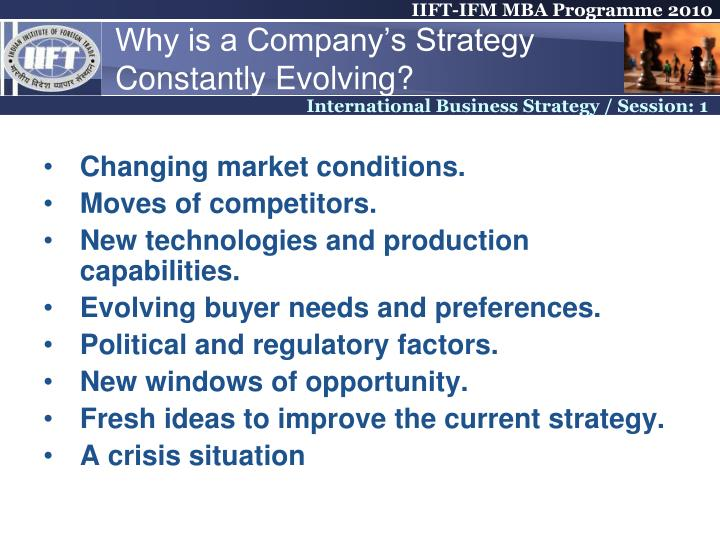 Why is a Company's Strategy Constantly Evolving?