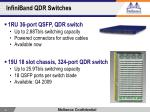 infiniband qdr switches