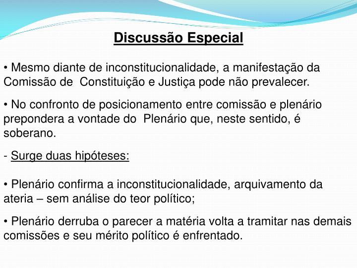Discussão Especial
