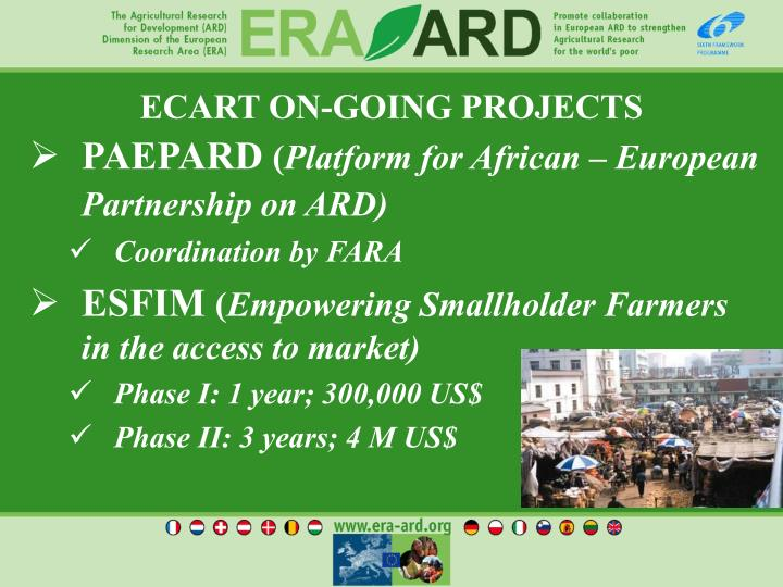 ECART ON-GOING PROJECTS