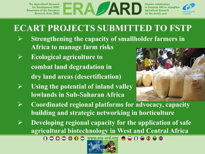 ECART PROJECTS SUBMITTED TO FSTP