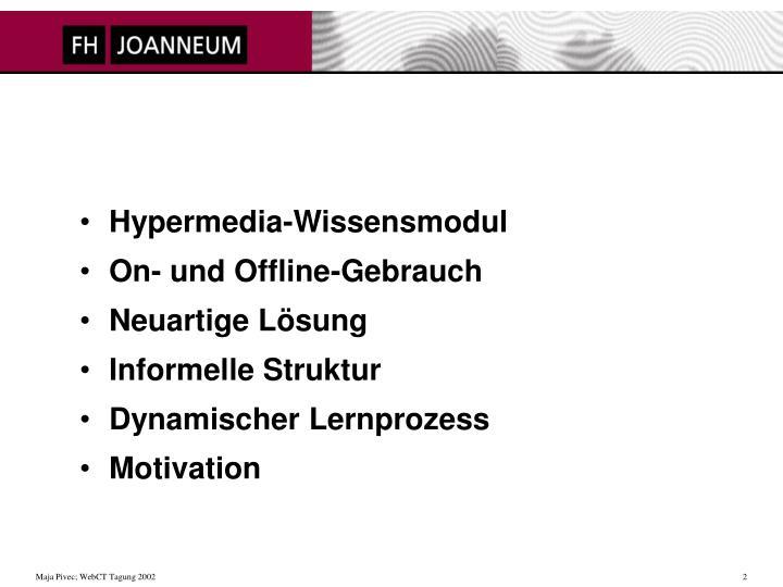 Hypermedia-Wissensmodul