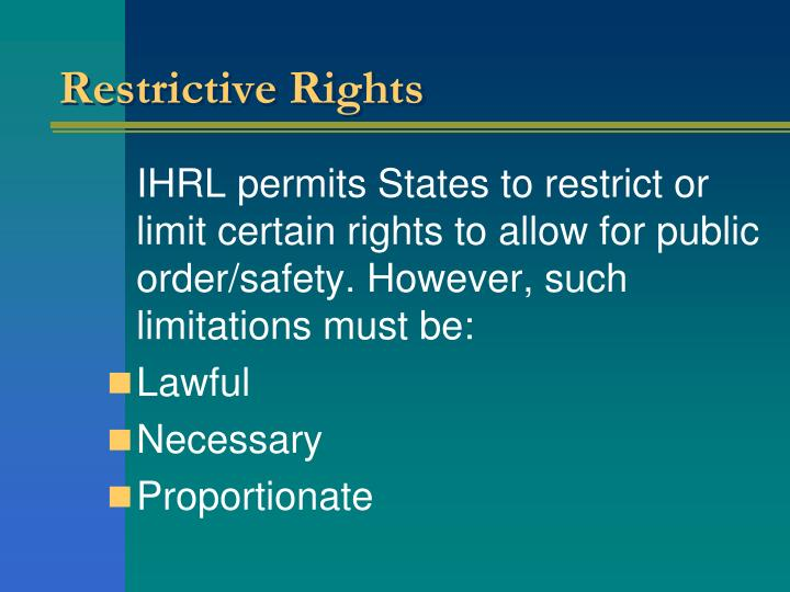 Restrictive Rights