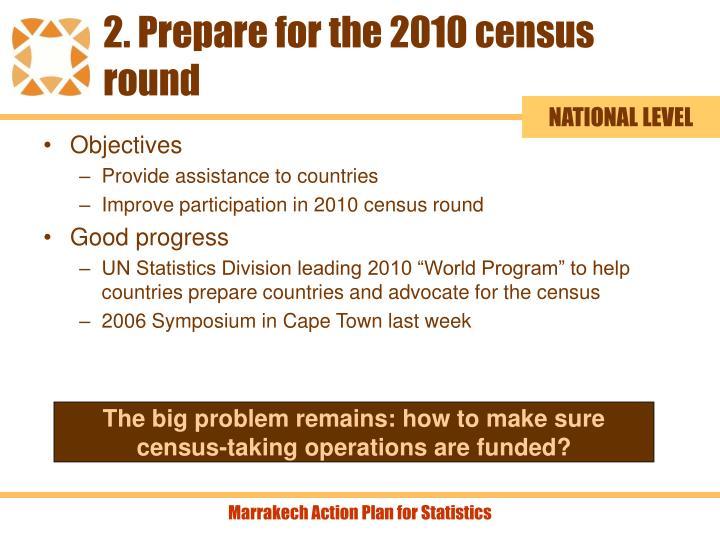 2. Prepare for the 2010 census round