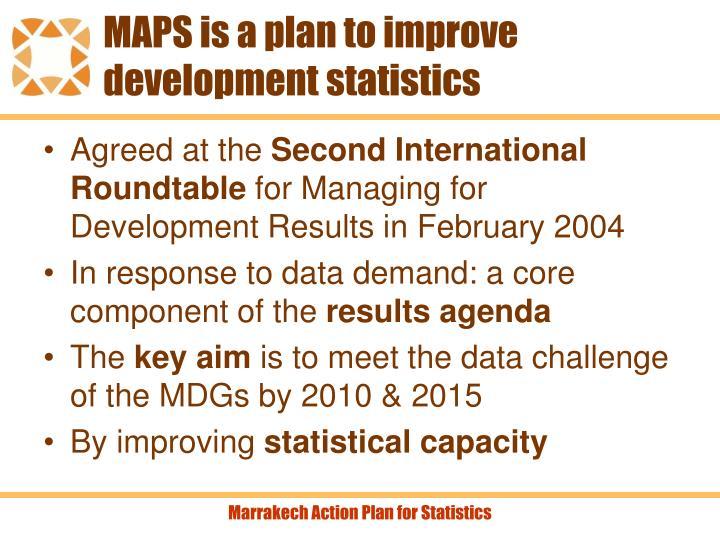 MAPS is a plan to improve development statistics