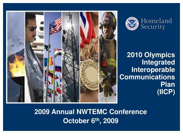 2010 olympics integrated interoperable communications plan iicp n.