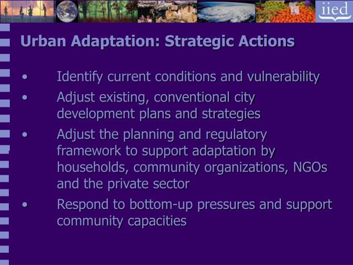 Urban Adaptation: Strategic Actions