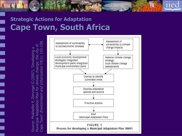 Strategic Actions for Adaptation