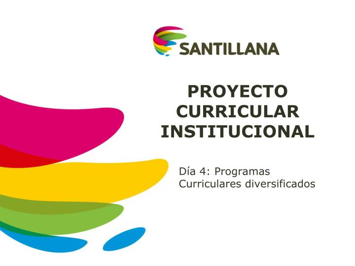 proyecto curricular institucional n.