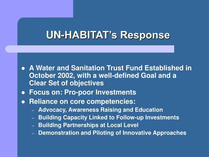 UN-HABITAT's Response