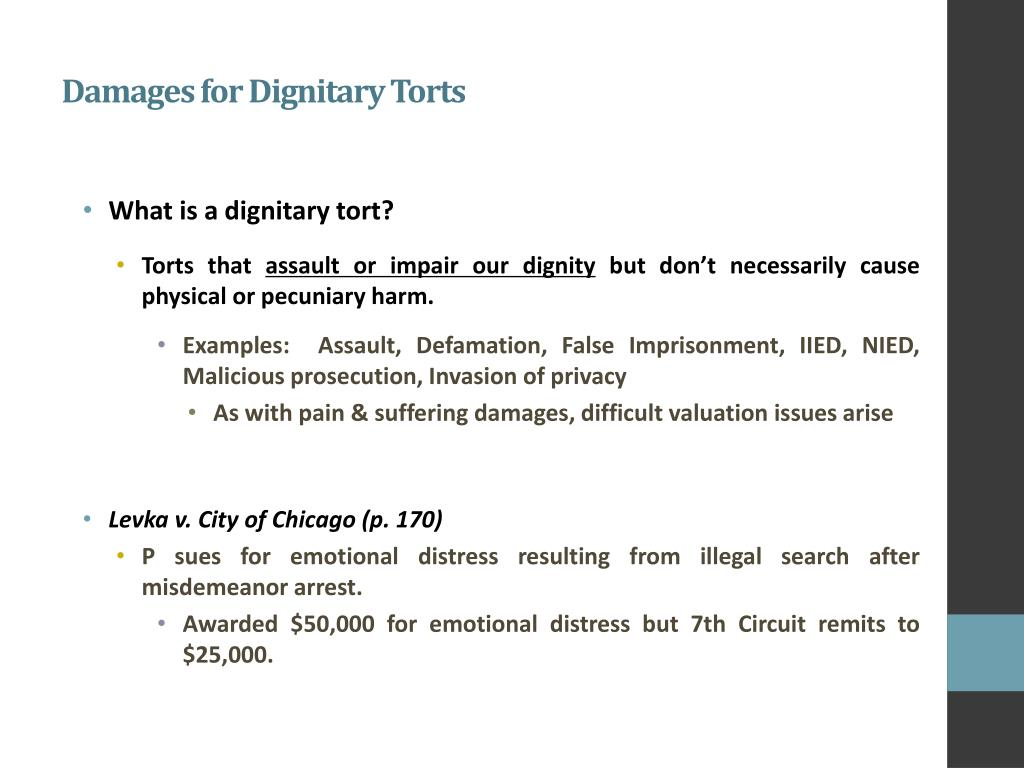 PPT - Damages for Dignitary Torts PowerPoint Presentation