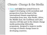 climate change the media