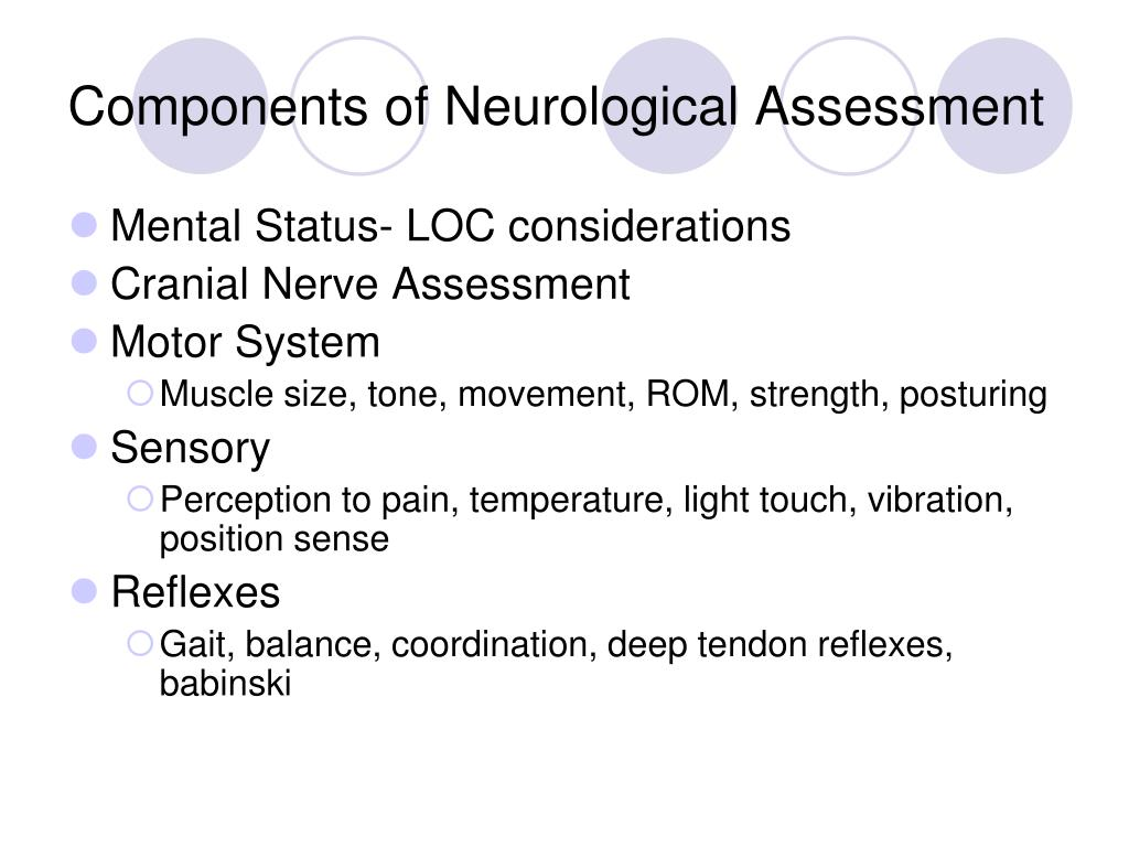 PPT - NEUROLOGICAL ASSESSMENT PowerPoint Presentation - ID:3494138