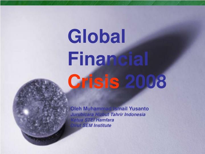 global financial crisis 2008 n.