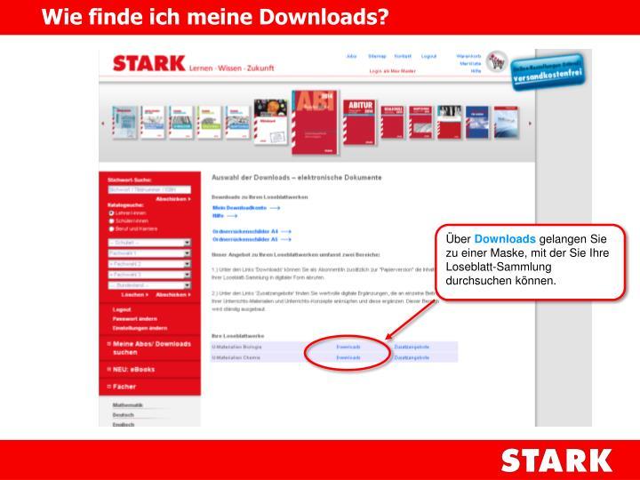Wie finde ich meine Downloads?