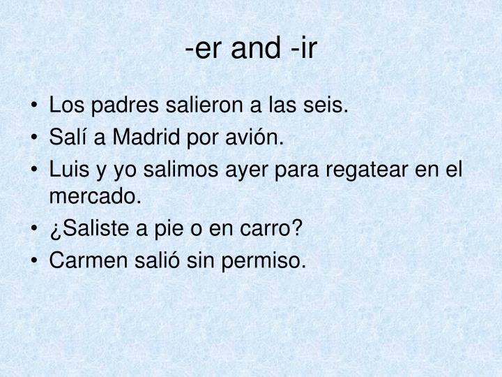 -er and -ir