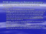 poe strategy in science inquiry