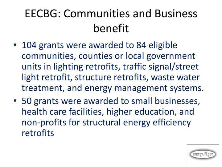 EECBG: Communities and Business benefit