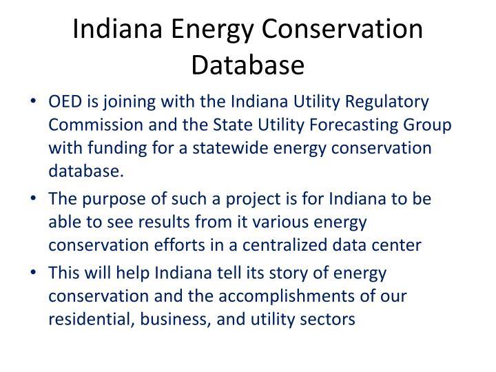 Indiana Energy Conservation Database