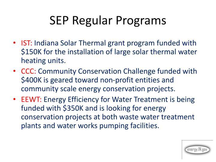 SEP Regular Programs
