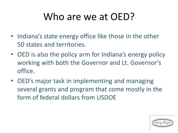 Who are we at oed