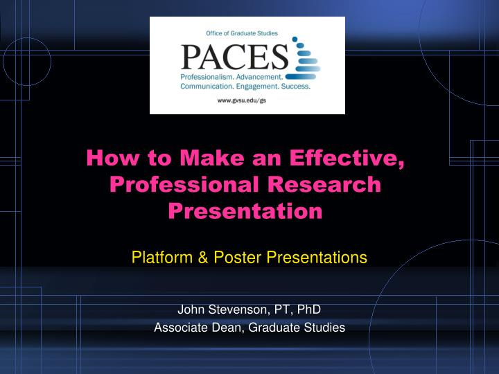 How to make an effective professional research presentation