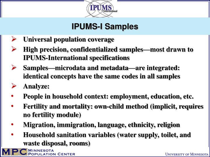 IPUMS-I Samples