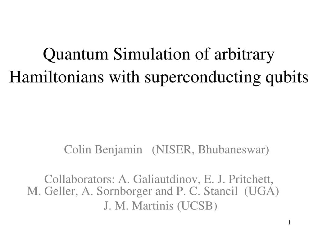 Quantum Simulation Of Arbitrarytonians With Superconducting Qubits N