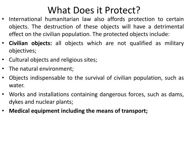 What Does it Protect?