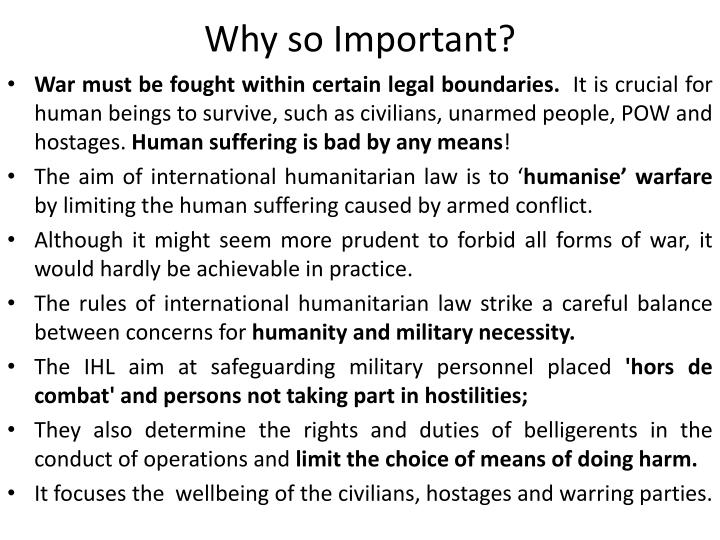 Why so Important?