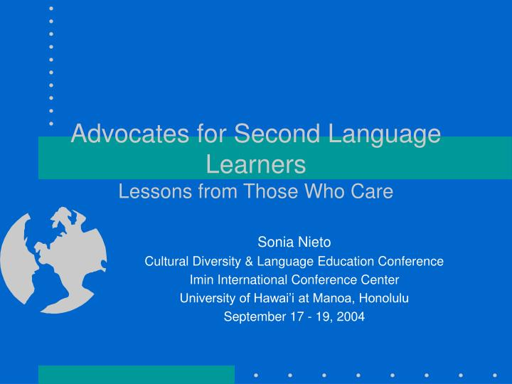 advocates for second language learners lessons from those who care n.