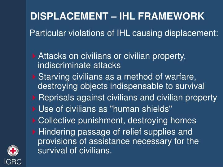 DISPLACEMENT – IHL FRAMEWORK