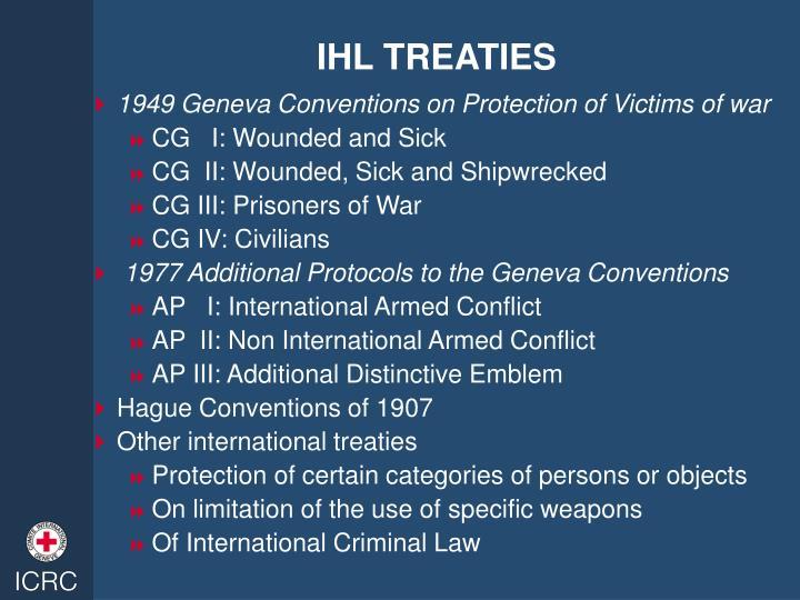IHL TREATIES