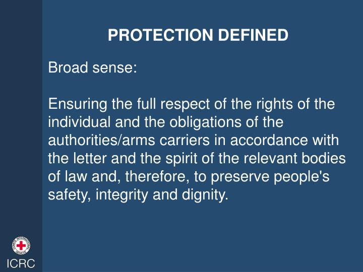 PROTECTION DEFINED