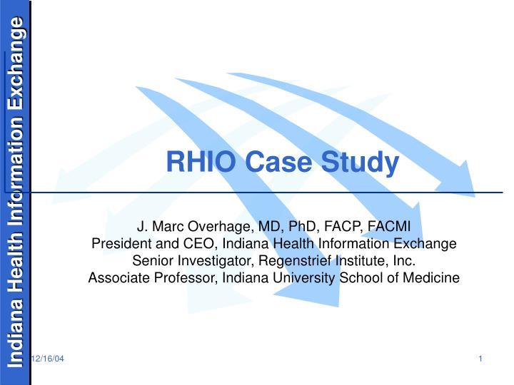 Rhio case study
