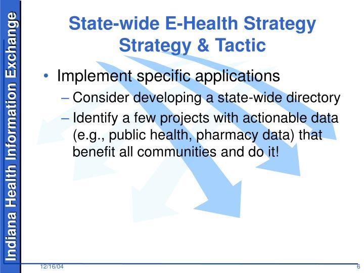 State-wide E-Health Strategy