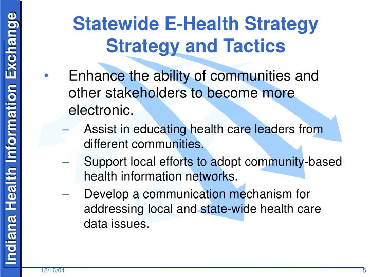 Statewide E-Health Strategy