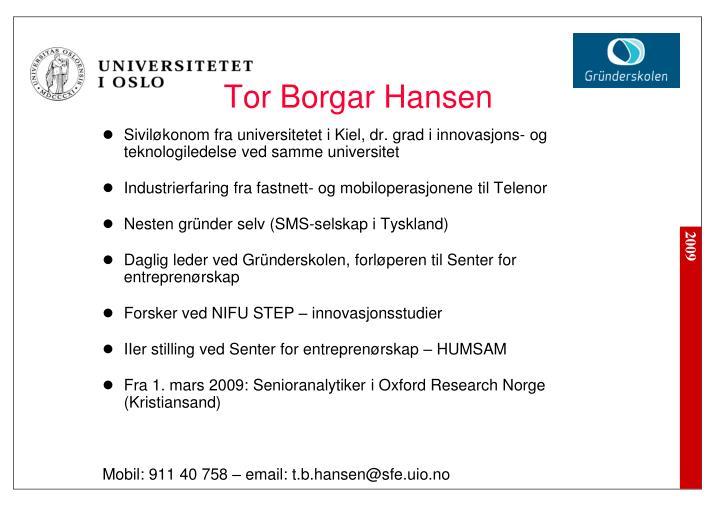 Tor Borgar Hansen