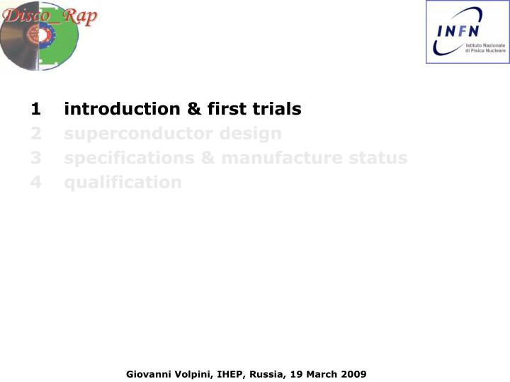 1introduction & first trials