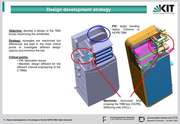 Design development strategy