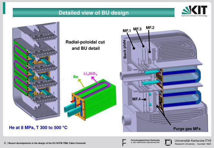 Detailed view of BU design