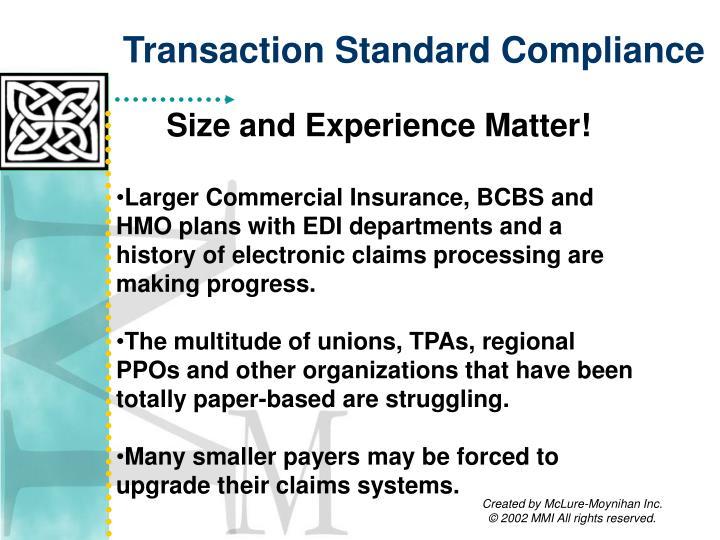 Transaction Standard Compliance
