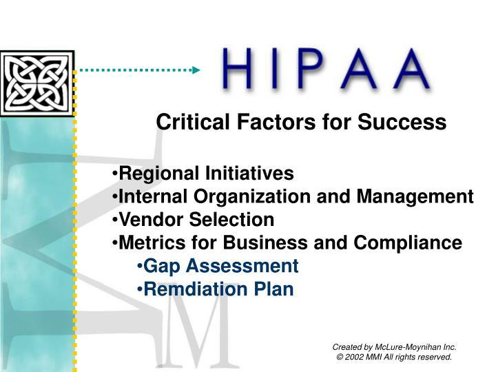 Critical Factors for Success
