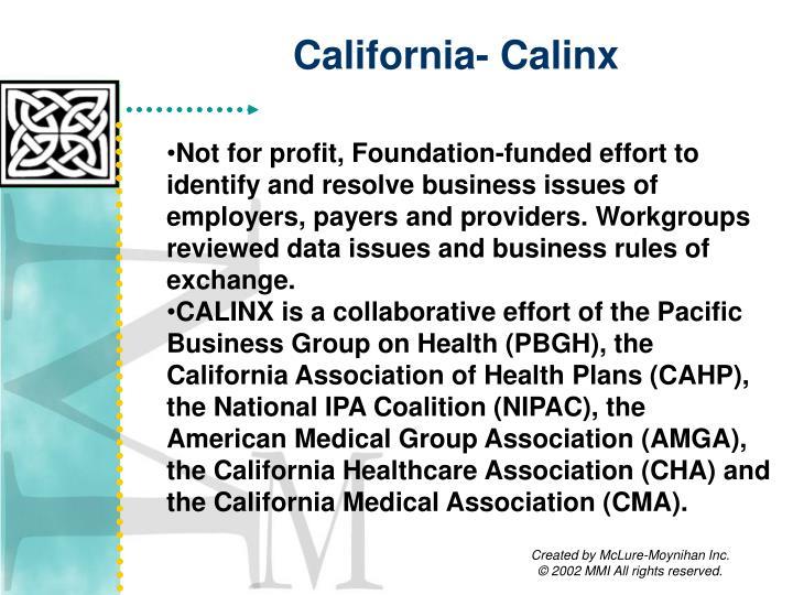 California- Calinx