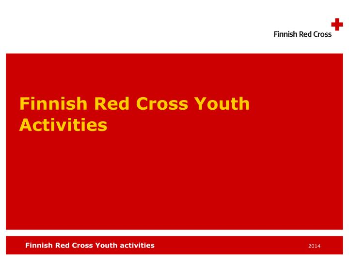 finnish red cross youth activities n.