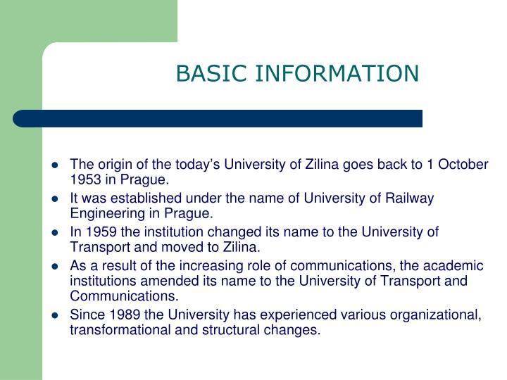 B asic information
