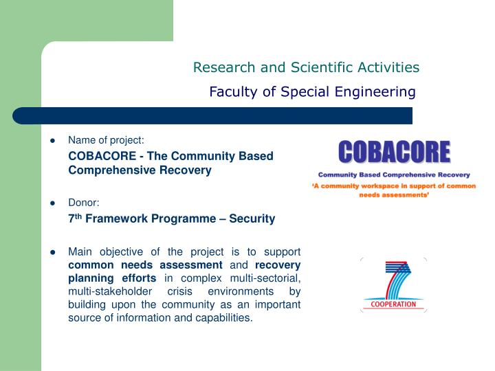 Research and Scientific Activities