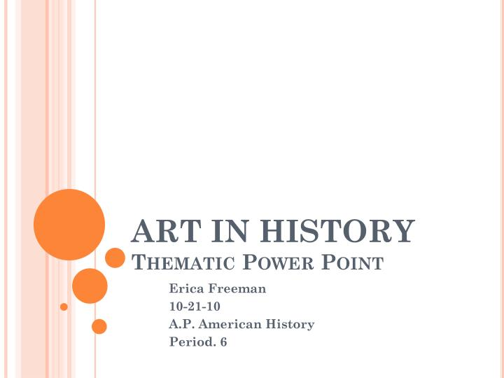 art in history thematic power point n.