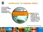 jordens yta 51 miljarder hektar