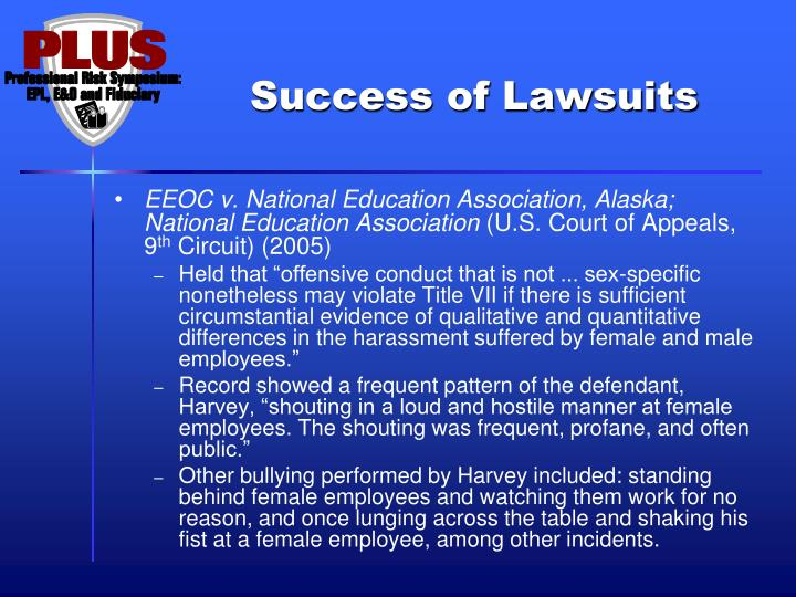 Success of Lawsuits